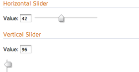 Screenshot of a Slider widget.